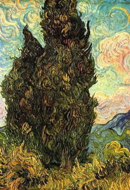 Vincent Van Gogh (Cypresses) Art Poster Print