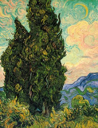 Cypresses, c.1889 by Vincent van Gogh
