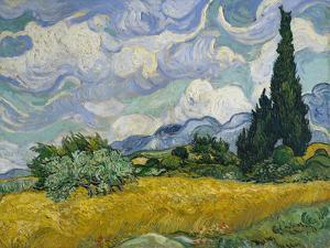 Cypresses II by Vincent van Gogh