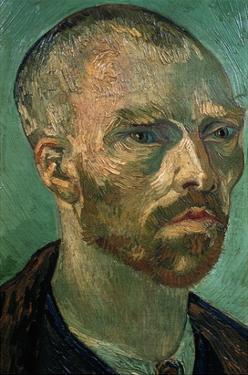 Detail of Self-Portrait by Vincent van Gogh