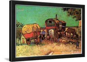 Vincent Van Gogh Encampment of Gypsies with Caravans Art Print Poster