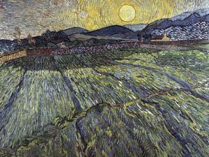 Enclosed Field with Rising Sun, 1889 by Vincent van Gogh