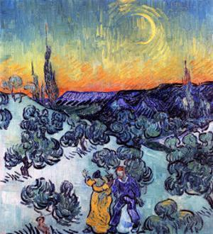 Evening Promenade by Vincent van Gogh