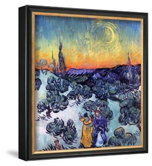 Evening Promenade by Vincent van Gogh