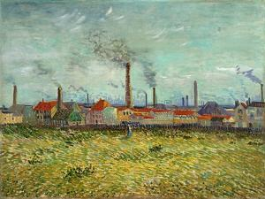 Factories at Clichy, 1887 by Vincent van Gogh
