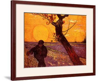 Farmer At Sunset by Vincent van Gogh
