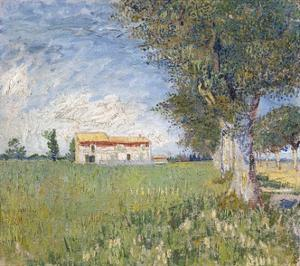 Farmhouse in a Wheat Field by Vincent van Gogh