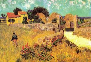 Vincent Van Gogh Farmhouse in Provence Art Print Poster