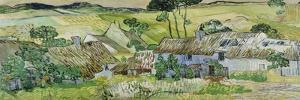 Farmhouses at Auvers, 1890 by Vincent van Gogh