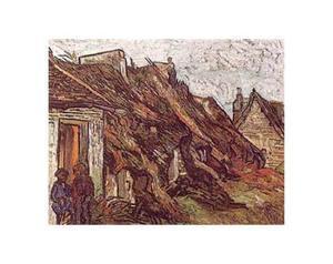 Farmhouses by Vincent van Gogh
