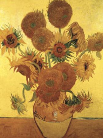 Fifteen Sunflowers on Gold, c.1888 by Vincent van Gogh