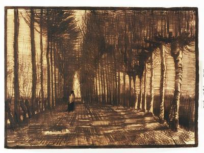 Figure on a Road, 1884 by Vincent van Gogh