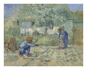 First Steps - After Millet, 1890 by Vincent van Gogh