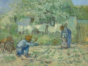 First Steps, after Millet, 1890 by Vincent van Gogh