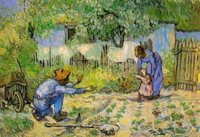 Vincent Van Gogh First Steps Art Print Poster