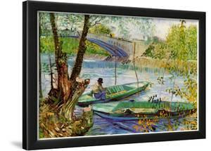 Vincent Van Gogh Fishing in Spring Art Print Poster
