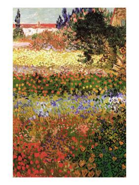 Flowering Garden with Path by Vincent van Gogh