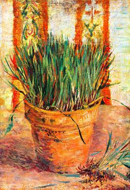 Vincent Van Gogh Flowerpot with Chives Art Print Poster