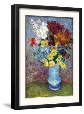 Flowers In a Blue Vase by Vincent van Gogh