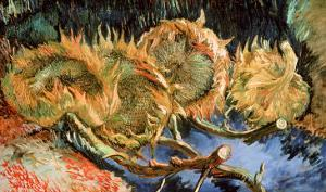 Four Cut Sunflowers, c.1887 by Vincent van Gogh