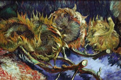 Four Sunflowers Gone To Seed by Vincent van Gogh
