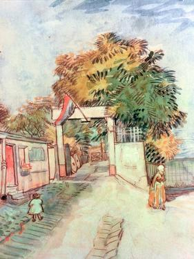 French Street Scene with Access to a Vantage Point, 1887 by Vincent van Gogh