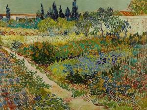 Garden at Arles, 1888 by Vincent van Gogh
