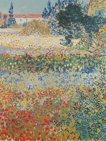 Garden in Bloom, Arles, c.1888 by Vincent van Gogh