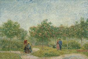 Garden with Courting Couples: Square Saint-Pierre, 1887 by Vincent van Gogh