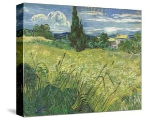 Green Field, 1889 by Vincent van Gogh
