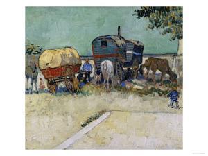 Gypsy Camp, c.1888 by Vincent van Gogh