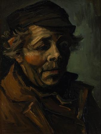 Head of a Peasant, 1884 by Vincent van Gogh