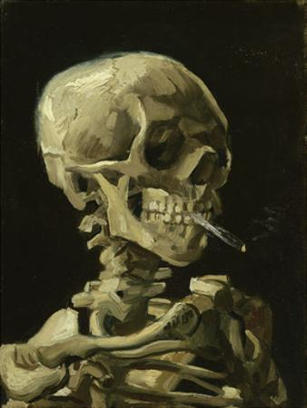 Head of a Skeleton with a Burning Cigarette, 1886 by Vincent van Gogh