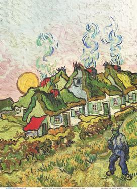 Houses and Figure (Häuser und Figur) by Vincent van Gogh