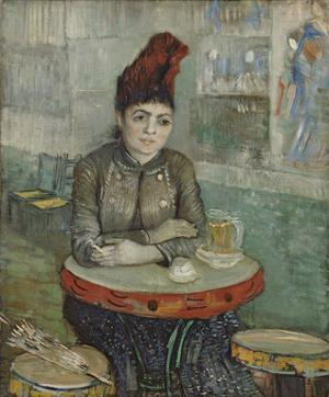 In the Cafe: Agostina Segatori in Le Tambourin, 1887 by Vincent van Gogh