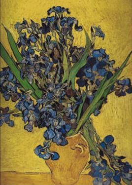 Irises in Vase by Vincent van Gogh
