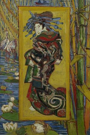Japonaiserie: Courtesan or Oiran (after Kesai Eisen), Paris, 1887 by Vincent van Gogh