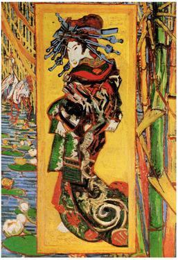 Vincent Van Gogh Japonaiserie Oiran after Kesa Eisen Art Print Poster