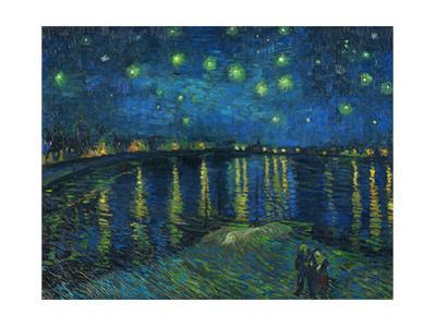 La nuit etoilee-Starry night, Arles 1888 Canvas R. F. 1975-19. by Vincent van Gogh