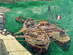 Landing Stage with Boats, c.1888 by Vincent van Gogh