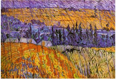 Vincent Van Gogh Landscape at Auvers in the Rain Art Print Poster