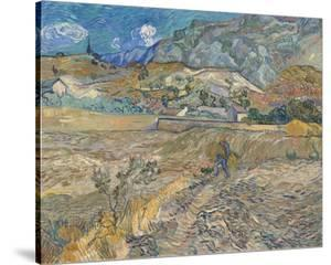 Landscape at Saint-Re?my (Enclosed Field with Peasant), 1889 by Vincent van Gogh