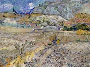 Landscape at Saint-Remy (The Plouged Field) by Vincent van Gogh