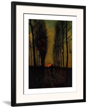 Lane of Poplars at Sunset by Vincent van Gogh