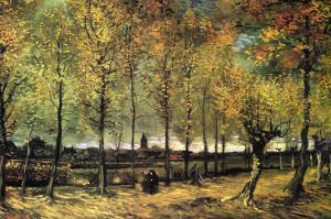 Lane with Poplars by Vincent van Gogh