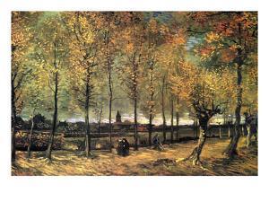 Lane with Poplars by Vincent van Gogh