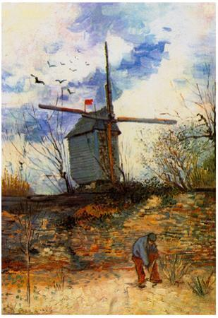 Vincent Van Gogh Le Moulin de la Galette 2 Art Print Poster