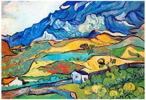 Vincent Van Gogh Les Alpilles a Mountain Landscape near Saint-Remy Art Print Poster