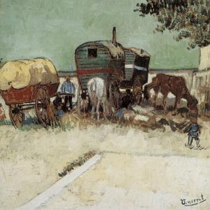 Les Roulottes, Campement De Bohémiens by Vincent van Gogh