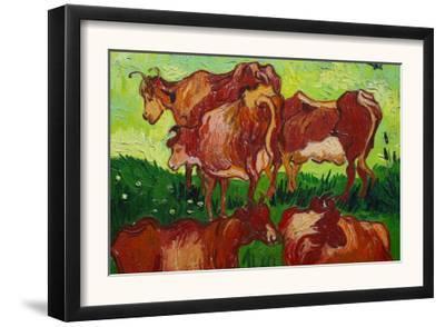 Les Vaches by Vincent van Gogh
